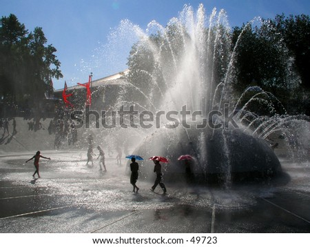 Fountain - stock photo