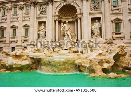 Fountain De Trevi in Rome, Italy