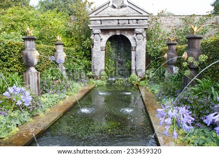Fountain in the gardens of Arundel castle