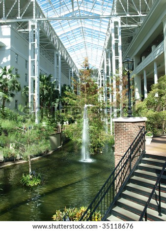 Fountain Inside Large Shopping Center In Nashville Tennessee
