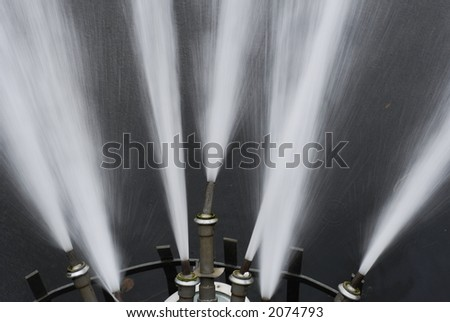 Fountain Nozzles Close-up - stock photo