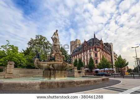 Fountain of Fairy Tales, Frankfurt, Germany - stock photo