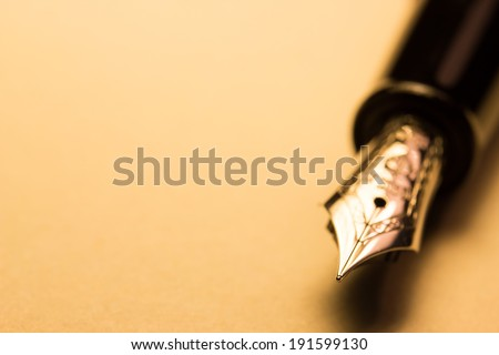 fountain pen - stock photo