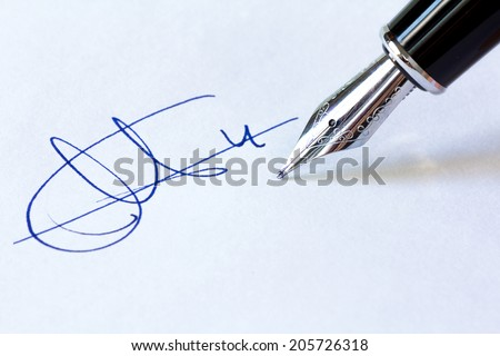 Fountain Pen and Signature