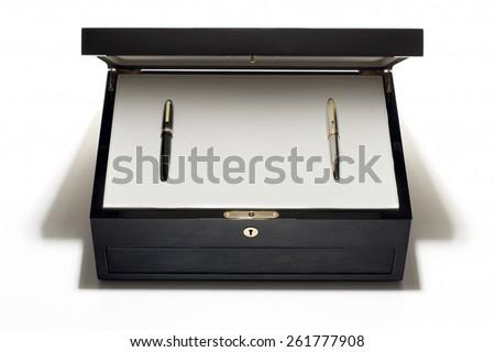 Fountain Pen Box Set - stock photo
