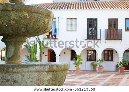 Fountain, Spanish Patio.