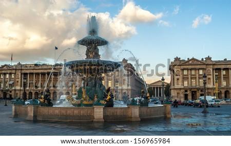Fountaines de la Concorde - stock photo