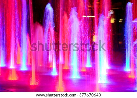 Fountains by night