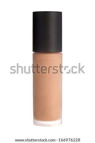 Fountation cream bottle isolated on white background. Concealer.