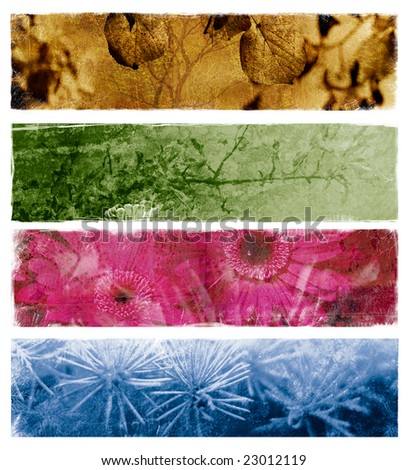 Four abstract banners - stock photo