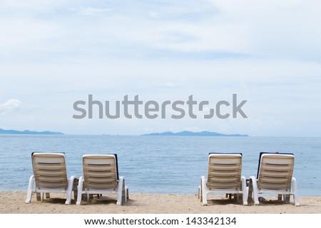 Four  Beach Chairs - stock photo