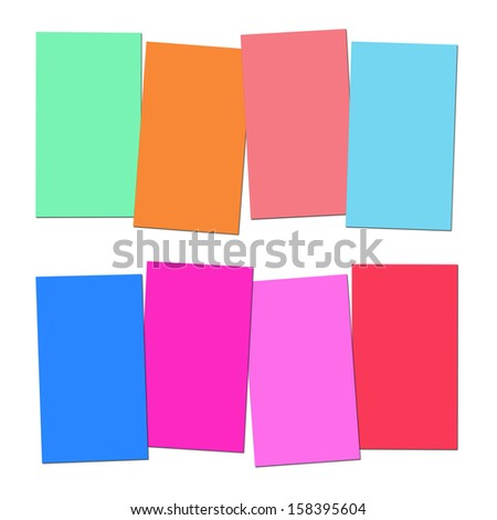 Four Blank Paper Slips Showing Copyspace For 4 Letter Words
