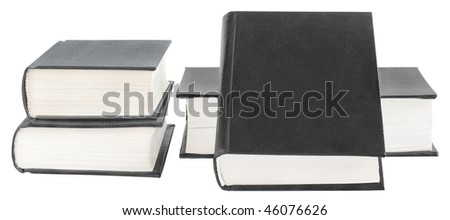 Four books on a white background.