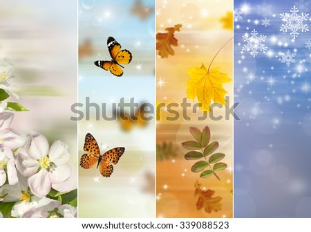 Four bright seasons - spring, summer, autumn, winter.