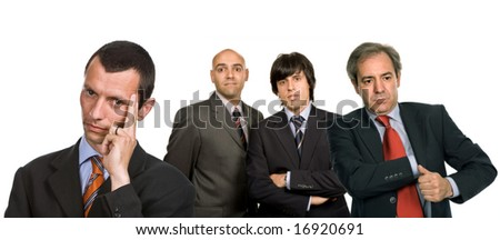 four business man isolated on white background