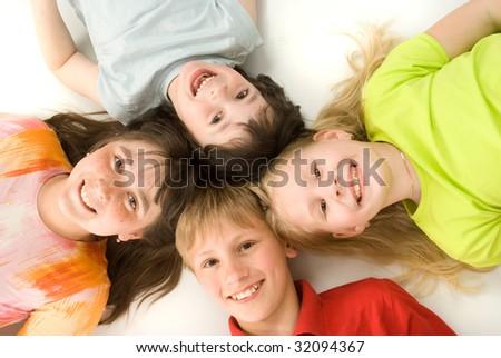 Four children - stock photo