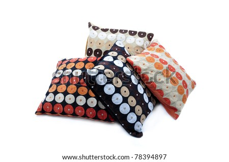 Four color cushions, with african texture - stock photo