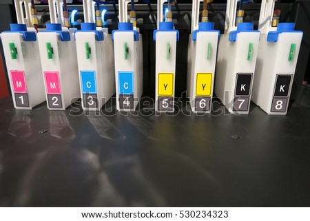 Four colors double inkjet cartridge