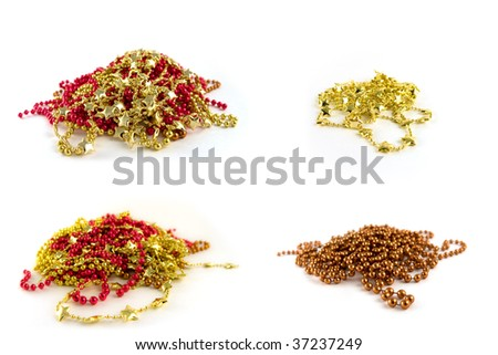 four different christmas chains - stock photo
