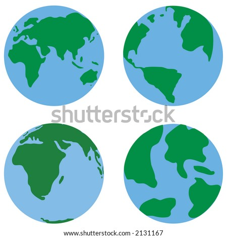 Four different images of the earth