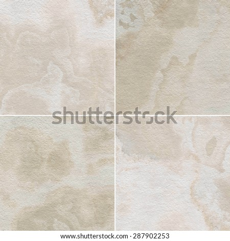 Four different marble texture.