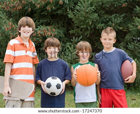 Four Different Sports - stock photo