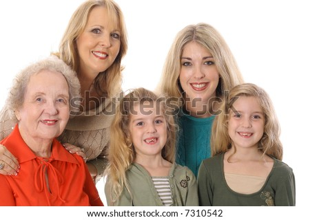 four generations picture - stock photo