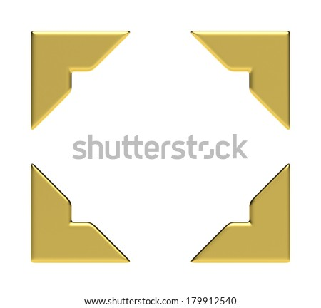 Four Golden Corners - stock photo