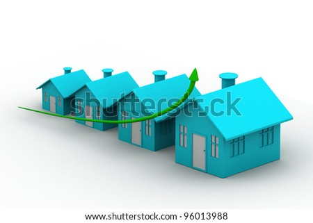 four houses. every house is greater than the previous