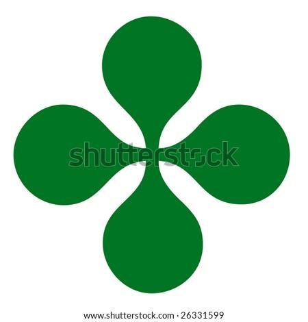 Four leaf clover symbol - stock photo