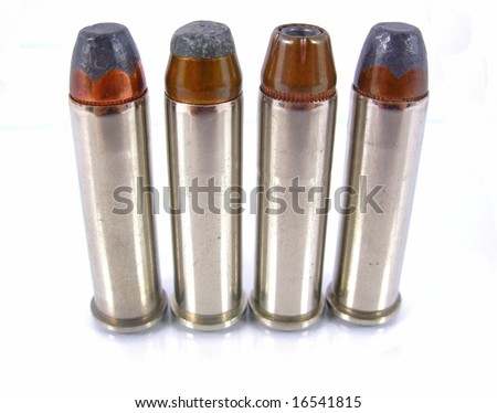 Four 357 magnum bullets in row.