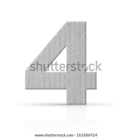 four number cardboard texture