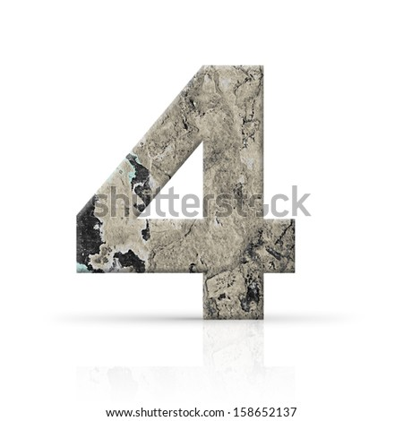 four number grunge wall texture
