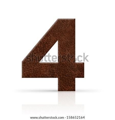 four number leather texture
