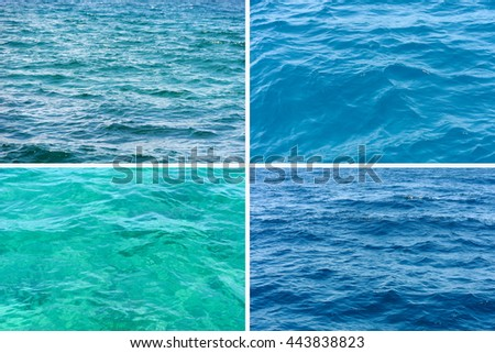 Four ocean water surface texture