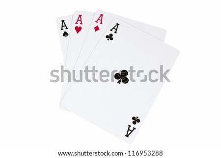 Four of a Kind in Aces - stock photo