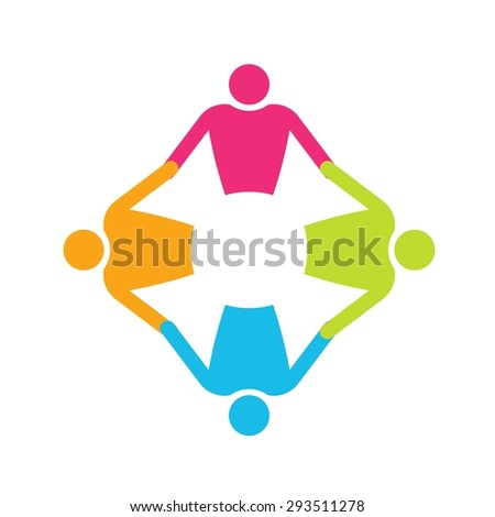 Four People logo holding hands