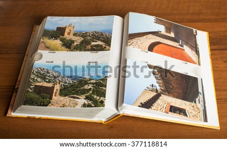 Four photos of Montserrat monastery and Montblanc town in album made in 2010