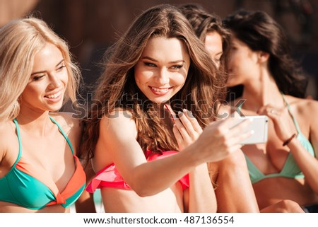 Pretty girls in bikinis