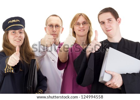 Four professional people - stock photo