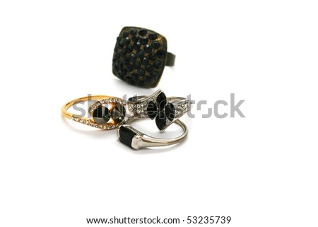 Four rings isolated on white background.