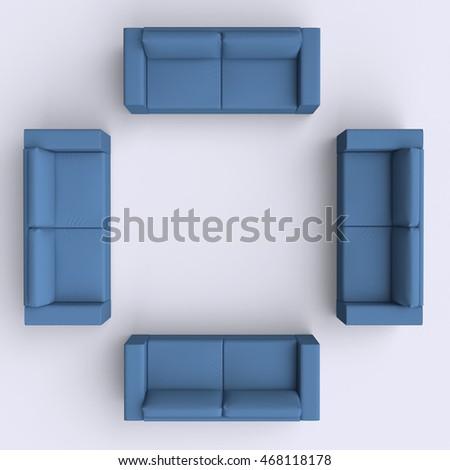 Top View Sofa Banque Dimages Dimages Et