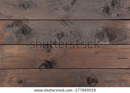 four weathered boards in very dark bog oak - stock photo