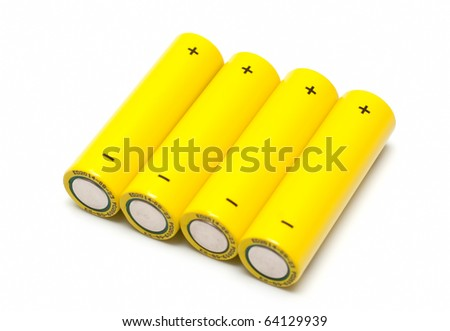 Four Yellow Batteries
