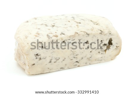 Fourme d'Ambert on a white background