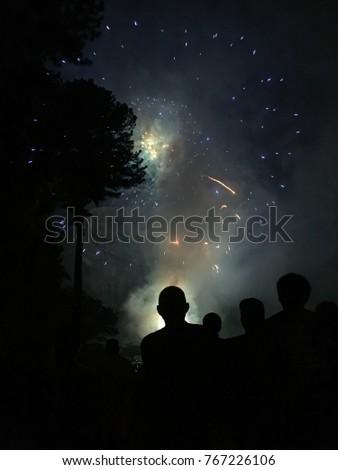 fourth july fireworks stone mountain park stock photo royalty free