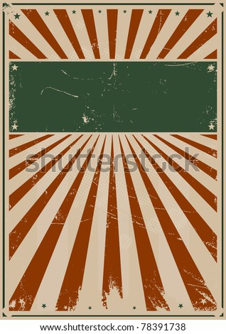 Fourth Of July Vintage Poster/ Illustration of a grunge american flag colors poster background for your advertisement - stock photo