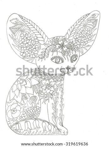 Fox Animal Coloring Page