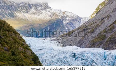 Fox Glacier West Coast South Island New Zealand - stock photo
