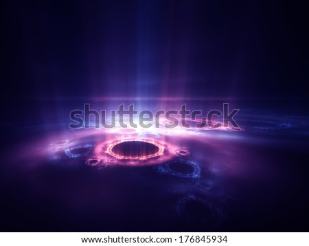 Fractal aura : abstract digital render  - stock photo